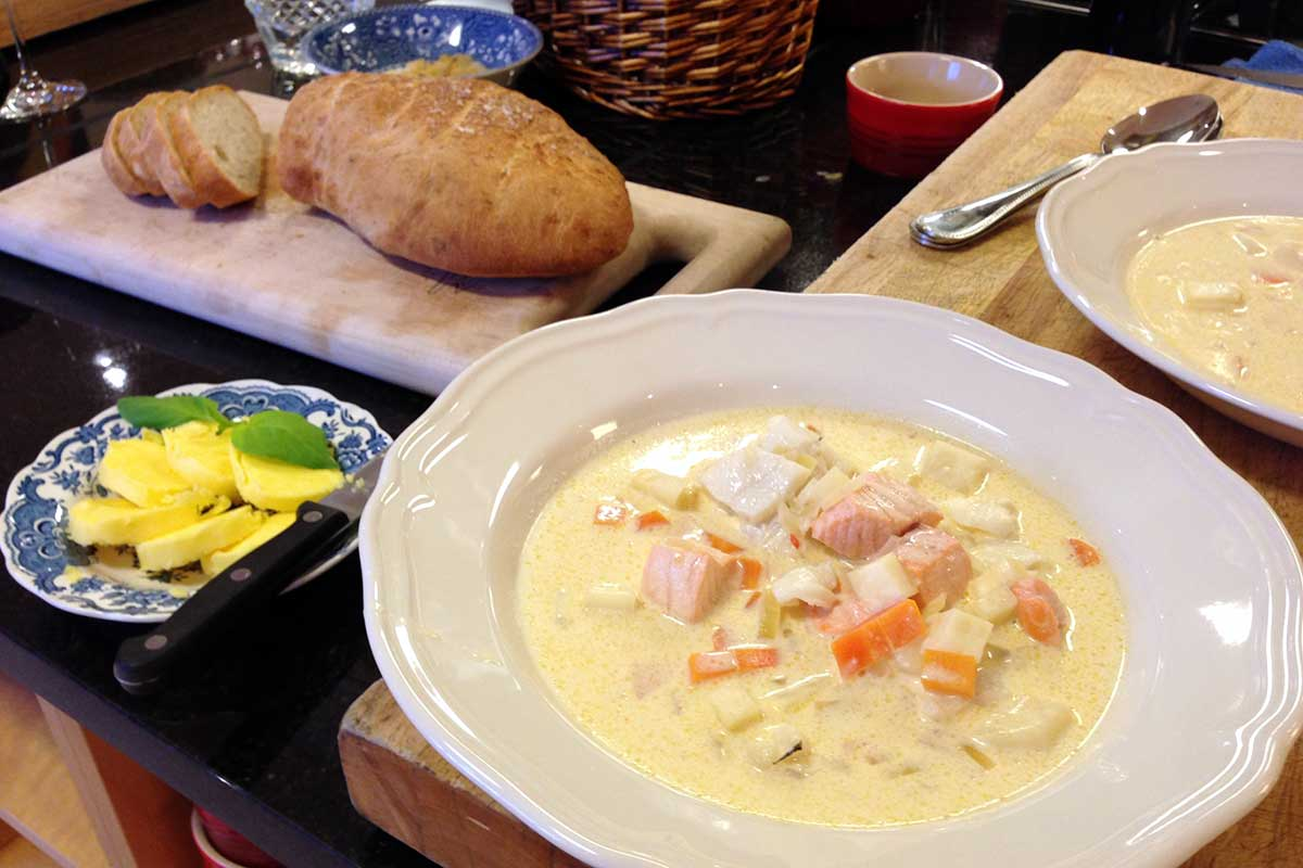Wenches Fiskesuppe Hjemme hos Wenche